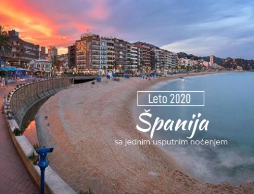 LETOVANJE U ŠPANIJI 2020 SA JEDNIM USPUTNIM NOĆENJEM